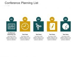 Conference Planning List Ppt Powerpoint Presentation Infographic Template Show Cpb
