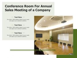 Conference Room For Annual Sales Meeting Of A Company