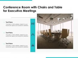 Conference Room With Chairs And Table For Executive Meetings