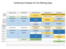 Conference Schedule For Five Working Days