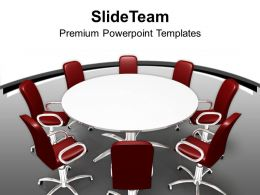 Conference Table And Chairs In Meeting Room Powerpoint Templates Ppt Themes And Graphics 0113