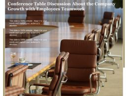 Conference Table Discussion About The Company Growth With Employees Teamwork