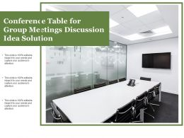 Conference Table For Group Meetings Discussion Idea Solution
