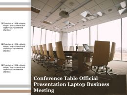 Conference Table Official Presentation Laptop Business Meeting