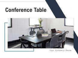 Conference Table Projector Various Chairs Wooden