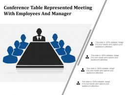 Conference Table Represented Meeting With Employees And Manager
