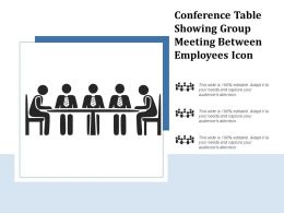 Conference Table Showing Group Meeting Between Employees Icon