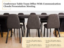 Conference Table Team Office With Communication Clouds Presentation Meeting