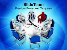 Conference With A Leader Business Concept PowerPoint Templates PPT Themes And Graphics 0513