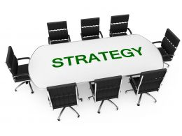 Conference With Word Strategy Of Business Stock Photo