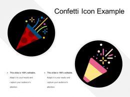Confetti Icon Example