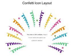 Confetti Icon Layout