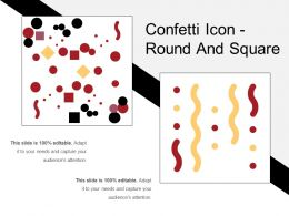 Confetti Icon Round And Square