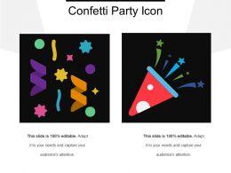 Confetti Party Icon