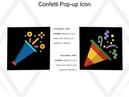 Confetti Pop Up Icon