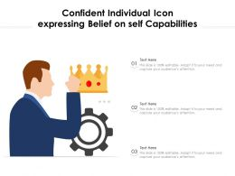Confident Individual Icon Expressing Belief On Self Capabilities
