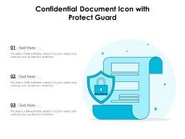 Confidential Document Icon With Protect Guard