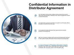 Confidential Information In Distributor Agreement Ppt Powerpoint Presentation Styles Good