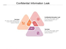 Confidential Information Leak Ppt Powerpoint Presentation Professional Sample Cpb