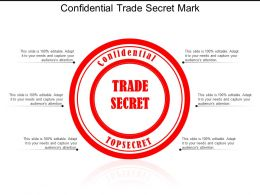 Confidential Trade Secret Mark