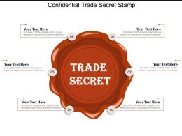 Confidential Trade Secret Stamp
