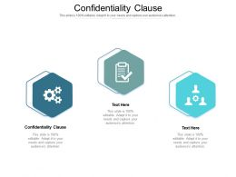 Confidentiality Clause Ppt Powerpoint Presentation Portfolio Guide Cpb