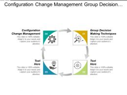 Configuration Change Management Group Decision Making Techniques Portfolio Analysis Cpb