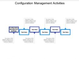 Configuration Management Activities Ppt Powerpoint Presentation Professional Slide Download Cpb