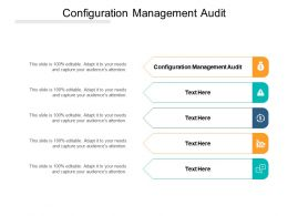 Configuration Management Audit Ppt Powerpoint Presentation Summary Objects Cpb