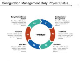 Configuration Management Daily Project Status Report Entrepreneur Qualities Cpb