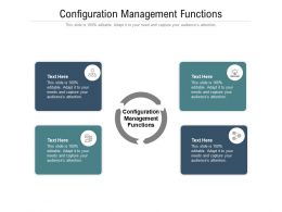 Configuration Management Functions Ppt Powerpoint Presentation Professional Graphics Cpb