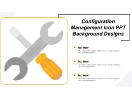 Configuration Management Icon Ppt Background Designs