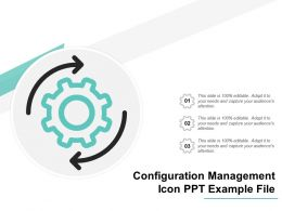 Configuration Management Icon Ppt Example File