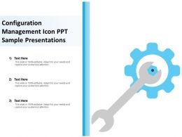 Configuration Management Icon Ppt Sample Presentations