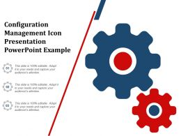 Configuration Management Icon Presentation Powerpoint Example