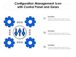 Configuration Management Icon With Control Panel And Gears