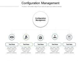 Configuration Management Ppt Powerpoint Presentation Outline Graphics Template Cpb