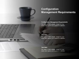 Configuration Management Requirements Ppt Powerpoint Presentation Professional Shapes Cpb