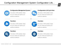 Configuration Management System Configuration Life Cycle View Presentation Layer