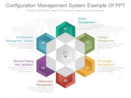 Configuration Management System Example Of Ppt