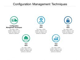 Configuration Management Techniques Ppt Powerpoint Presentation Infographics Design Inspiration Cpb