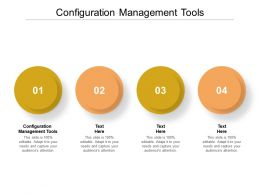 Configuration Management Tools Ppt Powerpoint Presentation Show Icon Cpb
