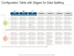 Configuration Table With Stages For Data Splitting Infographic Template