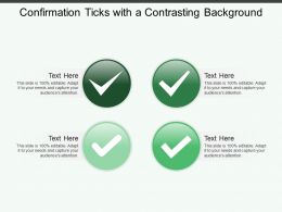 Confirmation Ticks With A Contrasting Background