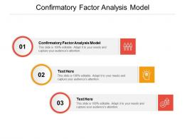 Confirmatory Factor Analysis Model Ppt Powerpoint Presentation Show Layouts Cpb