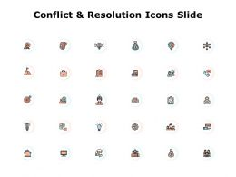 Conflict And Resolution Icons Slide Gears Ppt Powerpoint Presentation Pictures Example