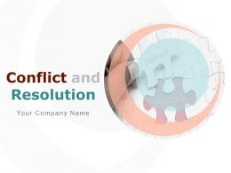 Conflict And Resolution Powerpoint Presentation Slides