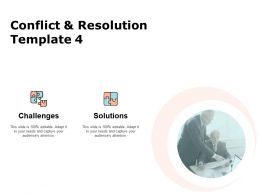 Conflict And Resolution Template Communication Ppt Powerpoint Presentation Pictures