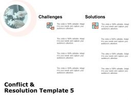 Conflict And Resolution Template Problem Solving Ppt Powerpoint Slides