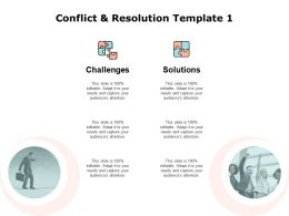 Conflict And Resolution Template Teamwork Ppt Powerpoint Presentation Pictures Model